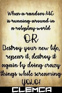 Destroy your new life, repair it, destroy it again by doing crazy things while screaming YOLO!