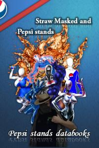 Straw Masked and Pepsi stands - Databooks